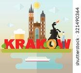 most famous symbols of krakow ... | Shutterstock .eps vector #321490364