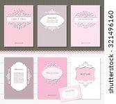 frames. cards for wedding or... | Shutterstock .eps vector #321496160