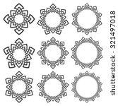 set of round frames. nine... | Shutterstock .eps vector #321497018