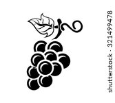 grapes icon  | Shutterstock .eps vector #321499478
