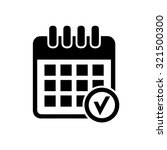 calendar checkmark icon | Shutterstock .eps vector #321500300
