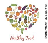 healthy food hand sketched... | Shutterstock .eps vector #321500540