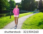 young slim woman in sportswear... | Shutterstock . vector #321504260