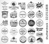 collection of typographical... | Shutterstock .eps vector #321511808