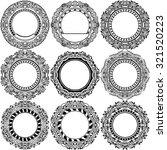 big set of round black frame... | Shutterstock .eps vector #321520223