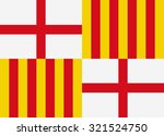 barcelona vector flag | Shutterstock .eps vector #321524750