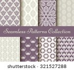 classic collection of seamless... | Shutterstock .eps vector #321527288