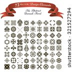 collection of 72 vector design... | Shutterstock .eps vector #321527294