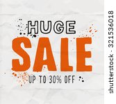 huge sale template for your... | Shutterstock .eps vector #321536018