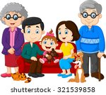 big family with grandparents ... | Shutterstock .eps vector #321539858
