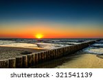 sunset on the beach at baltic... | Shutterstock . vector #321541139