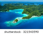 beautiful view of palau... | Shutterstock . vector #321543590
