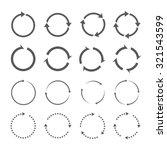 set of grey circle vector arrows | Shutterstock .eps vector #321543599