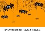 halloween vector background... | Shutterstock .eps vector #321545663