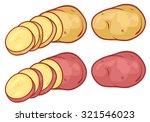 sliced potatoes  | Shutterstock .eps vector #321546023
