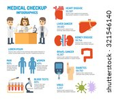 medical checkup infographic... | Shutterstock .eps vector #321546140