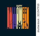 halloween background holiday...   Shutterstock .eps vector #321547910