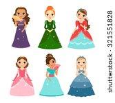 little girls vector princess...