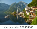 hallstatt village and alpine... | Shutterstock . vector #321553640