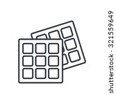 vector belgian waffles outline... | Shutterstock .eps vector #321559649