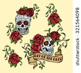 hand drawn day of dead mexican... | Shutterstock .eps vector #321564098