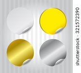 round tag gold silver white... | Shutterstock .eps vector #321572390