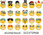 vector style smile face icons | Shutterstock .eps vector #321573968
