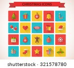 christmas flat icons with long... | Shutterstock .eps vector #321578780