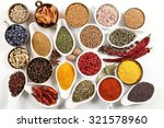 flavorful  colorful spices in... | Shutterstock . vector #321578960