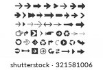 arrows of various shapes for... | Shutterstock . vector #321581006
