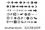 arrows of various shapes for... | Shutterstock . vector #321581039