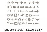 arrows of various shapes for... | Shutterstock . vector #321581189