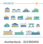 set of vector line flat design... | Shutterstock .eps vector #321583403