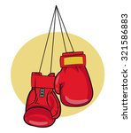 red boxing gloves vector... | Shutterstock .eps vector #321586883