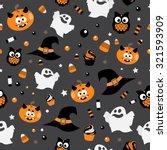 vector horror symbols seamless... | Shutterstock .eps vector #321593909
