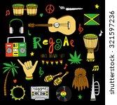 reggae musical instrument and... | Shutterstock .eps vector #321597236
