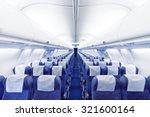modern airplane seats in... | Shutterstock . vector #321600164