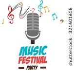 music festival design  vector... | Shutterstock .eps vector #321601658