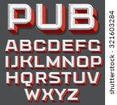 vector retro typography.... | Shutterstock .eps vector #321603284
