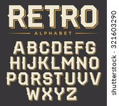 vector retro alphabet. vintage... | Shutterstock .eps vector #321603290