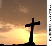 concept conceptual black cross... | Shutterstock . vector #321604520