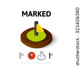 marked icon  vector symbol in...