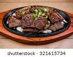 galbi marinated short ribs   Shutterstock . vector #321615734