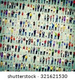 multiethnic people togetherness ... | Shutterstock . vector #321621530