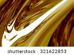 beautiful gold chrome or... | Shutterstock . vector #321622853