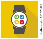 wearable technology vector over ...   Shutterstock .eps vector #321623423