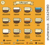 set of coffe types icons in... | Shutterstock .eps vector #321624080