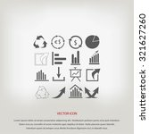 chart icon | Shutterstock .eps vector #321627260