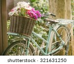 Vintage Bicycle With Flowers I...