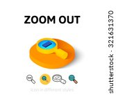 zoom out icon  vector symbol in ...
